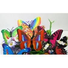 Бабочки бумажные 7см MIX