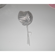 Листья 10шт серебро