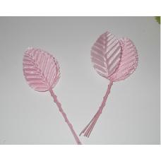 Листья 10шт розовый