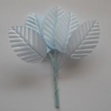 Листья 10шт нежно-голубой