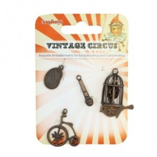 Набор металлических подвесок Винтажный Цирк