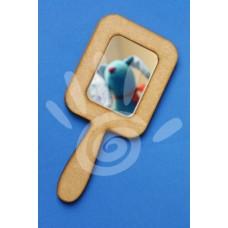 Зеркало с ручкой прямоугольное №19-0008