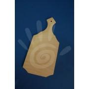 Доска для росписи лопатка большая 33*17 прямой край №18-0105