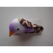 Мини птичка 3см ассорти фиолетовая