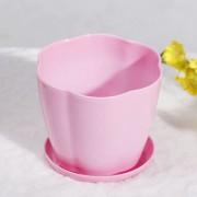 Кашпо пластик, розовое