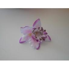 Орхидея Каттлея белая с фиолетовым ореолом 7см