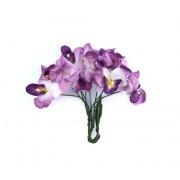 Орхидеи, набор 10 шт ФИОЛЕТОВЫЕ
