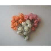 Розы фом 12шт с фатином розовые