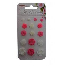 Набор объемных цветочков, Цветочная вышивка 1