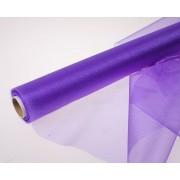 Органза флористическая 48см, цвет фиолетовый
