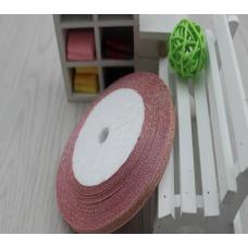 Лента-парча розовая 0,6см, 1м