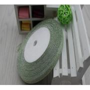 Лента-парча  зеленая 6мм, 1м