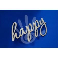 Слово Happy 19*12 см ф3-4 №07-0014