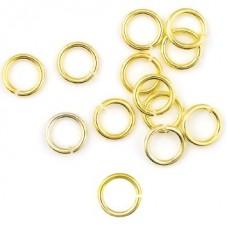 Кольцо соединительное для бус 6*0,9мм, цвет золото